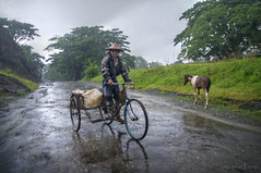 farmer on his bike