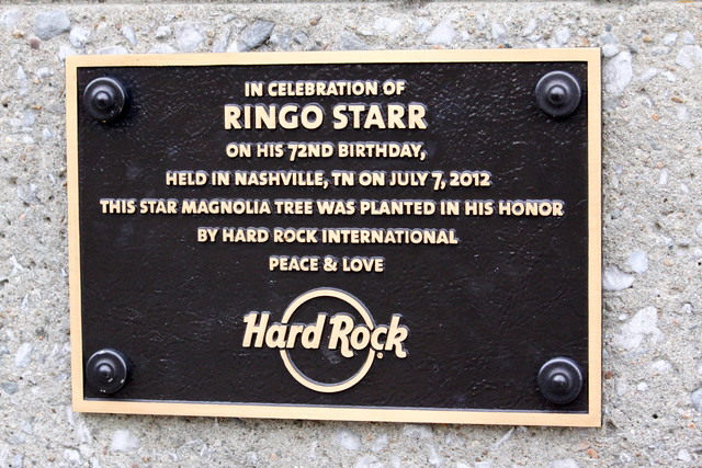 Ringo Starr 72nd Birthday plaque - Nashville, TN