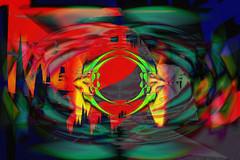 Puerta estelar (seguicollar) Tags: imagencreativa photomanipulación art arte artecreativo artedigital virginiaseguí círculos red green verde espacio puerta puertaestelar