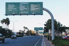 San Diego Airport (So Cal Metro) Tags: san sandiego airport sandiegoairport lindberghfield terminal sign signage streetview harbor harbordrive roadway airline airlines