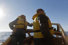 Captain and Crew (blachswan) Tags: tasmanpeninsula tasmania tasmansea captainandcrew boat pfd australia tasmannationalpark