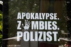 G20 Hamburg Protest (Rasande Tyskar) Tags: g20 g 20 hamburg protest banner flyer sticker germany plakate plakat aufkleber flugblatt apokalypse zombies polizei no against
