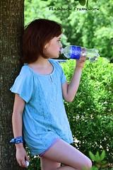Hard Earned Drink (Flashback Framework) Tags: aquafina outside play water girl children portrait drink waterbottle