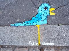 Pavement installation by Patte Blanche [Lyon, France] (biphop) Tags: europe france lyon croixrousse streetart pavement trottoir street installation patte blanche patteblanche bird oiseau