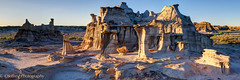 Bisti Badlands Study (OJeffrey Photography) Tags: bistibadlands newmexico nm sunset rockformations rockformation panorama pano ojeffreyphotography ojeffrey jeffowens nikon d800