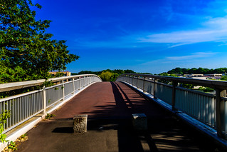 The Blue Sky of The Early Summer Seen from The Overpass of Tama Hills