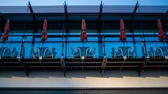 65002463-LR-1920 (the.digitaleye) Tags: hamburg hafen harbor mirror spiegelung elbe restaurant fisch balkon sonnenschirm fischereihafen umbrella czj flektogon zhongyi lens turbo 35mm f24