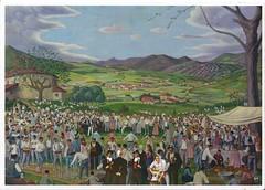 Romería en Orozko (Bizkaia) según acuarela de José Arrue (Jose Asensio Larrinaga (Larri) Larri1276) Tags: copia romería joséarrue acuarela
