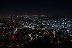 Seoul (jernejb) Tags: night lightshow city skyscraper skyline observationdeck nseoultower yongsan2igadong yongsangu seoul southkorea d5200