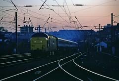 Capital Deltic UK  |  1981 (keithwilde152) Tags: br class55 deltic holloway bank london uk city capital railway tracks passenger train diesel locomotives dusk winter outdoor