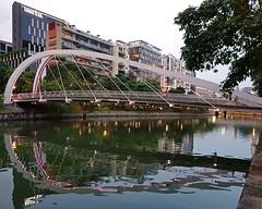Singapore River 1 (joeng) Tags: singapore places landscape building tree plants river singaporeriver water reflection bridge people
