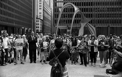 Anti-Bigotry Rally @ Federal Plaza - Downtown Chicago - 22 Jun 2017 - 5D IV - 076 (Andre's Street Photography) Tags: chicago22jun20175div chicago downtown loop innercity rally demonstration protest antibigotry antitravelban muslims civil rights civilrights religious freedom constitution constitutional issues law enforcement urban urbanlife citylife streetlife street straat straatportret straatfotografie fotografiadistrada strada lacalle larue strasse fotografie photobyandrevanvegten chicagoist photos chicagotribune chicagomagazine chicagojournal chicagoreader streetphotographymagazine chicagostreet chicagostreetphotographer dutchstreetphotographer tributetoedvanderelsken dedicatedtodianearbus robertfranksworld vivianmaierstyle zwartwit bw bwphotography blackandwhite noiretblanc blancoynegro schwarzweiss canon5d eos caqnon 5div efprime primelens prime lens ef ef35mmf2is travelban bigotry discrimination antimuslim against systemic islamophobia alexandercalder