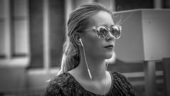 Girl in Amsterdam (Pieter van de Ruit) Tags: bw amsterdam streetportrait portrait streetshot woman girl sunglasses