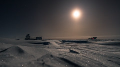 The full Moon over the Ice Desert (redfurwolf) Tags: southpole antarctica ice snow night moon moonlight fullmoon dsl mapo halo outdoor nature landscape redfurwolf nightsky sky sony rx100m4