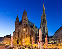_MG_0436_web - Stepahnsdom with no people around, really? (AlexDROP) Tags: 2017 vienna wien austria österreich lights travel architecture tower color city wideangle bluehour church urban nighttime scape landmark canon6d ef16354lis historicalplace best iconic famous mustsee picturesque postcard hdr