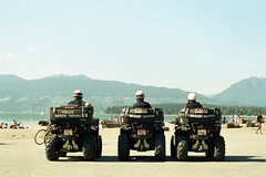 Beach Patrol (tyson_laidler) Tags: vancouver kitsilano beach police cinestill 50