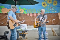 At the Farmers Market (JBPTrains2012) Tags: lubec music duo outdoors
