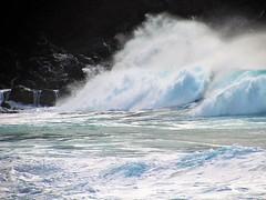 Wave power (thomasgorman1) Tags: waves surf beach island spray crashing rocks lavarock molokai hawaii ocean sea water shorebreak