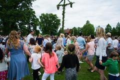 Midsummer celebration in Mariefred, Sweden! (JimmyBrandt) Tags: midsummer pegan tradition green pole flag sweden sverige dance rings violin d7100 nikon