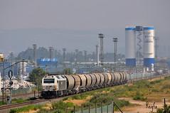 As Gandaras (***REGFA***) Tags: cereal coren tren train comboio mercadorias mercancias renfe adif recta de gandaras