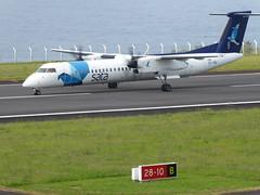 Bombardier Dash 8 approaching Horta 170616_012 (jimcnb) Tags: 2017 juni urlaub azoren azores açores faial horta airport castelobranco cstrg bombardier dash 8 sata