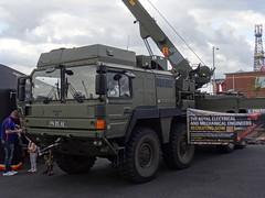 British Army MAN Crane, 4th Jul 2015 (nathanlawrence785) Tags: psni police car audi antrim giro ditalia gran fondo 2014 british army man sv crane jcb logistics wmik