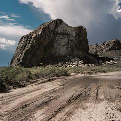 (el zopilote) Tags: devilsthrone newmexico santafecounty loscerrillos landscape clouds trees powerlines hasselblad 500cm carlzeiss planarcf80mmf28t zv zeiss mediumformat kodak portra film 120 6x6