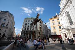 Michaelerplatz (Stephanie Rutt) Tags: vienna michaelerplatz hofburg sculpture