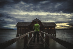 Shhht! (der_peste) Tags: ammersee münchen see longtimeexposure dramatic sky clouds cloudporn bluehour perspective photographer hss sonya7m2 sonya7ii sigmaart2414 24mm