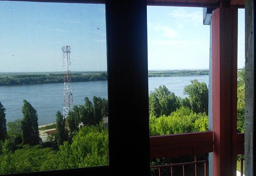 Calafat, uitzicht uit m'n hotelkamer
