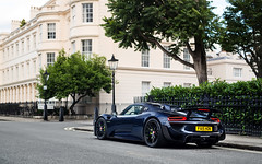 Midnight Blue. (Alex Penfold) Tags: midnight blue porsche 918 spyder london supercars supercar super car cars autos alex penfold 2017 regents park