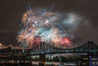 Canada Day Fireworks display - Montreal