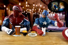 Independence Day 2017!  (Part 2) (MayorPaprika) Tags: canoneos50d ain marvel legends captainbritain captainamerica bar beer bokeh snacks independenceday humor flashback disbelief georgewashington