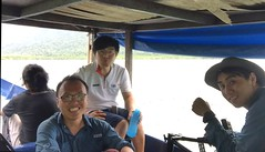 Langkawi documentary filming team. Cherk, Steven on camera,and Jave(black shirt) audio recordist.