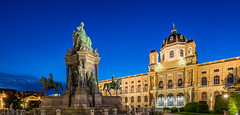 _MG_0105_web - Maria-Theresien-Platz and the Natural History Museum (AlexDROP) Tags: 2017 vienna wien austria österreich travel architecture bluehour palace color city wideangle urban nighttime scape landmark monument canon6d ef16354lis historicalplace best iconic famous mustsee picturesque postcard panoramic hdr