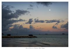 Moon at Sunrise over Dickenson Bay Antigua (John Cothron) Tags: antiguafebruary2017 antiguaandbarbuda canoneos5dmkiv caribbeansea cothronphotography dickensonbay johncothron makroplanar502ze saintjohn sandalsgrandeantiguaresort stjohns zeissmakroplanart250mmze beach boat cloud clouds cloudyweather cold island landscape moon morninglight nature ocean outdoor outside sail sailboat saltwater sand scenic sky travel tropical water wave wind winter img15914170212 ©johncothron2017 moonatsunriseoverdickensonbayantigua