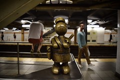Bronze Underground (-»james•stave«-) Tags: newyork nyc manhattan city urban subway sculpture whimsical statue bronze cop police beat onthebeat public art artist tomotterness lifeunderground people men guys platform mta nikon d5300