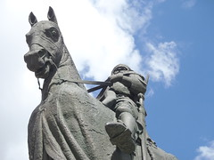 """#   """"Robert The Bruce of Scots """"  1316- 1329  #art2017 (Mr. Happy Face - Peace :)) Tags: lord yyc metallic sky cloud sun horse knight scott albertabound canada150 cans2s hss history college sait"""