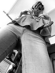 low angle shot (Régis Dubois) Tags: blonde sixties vintage look style sexy rocknroll mode contreplongée