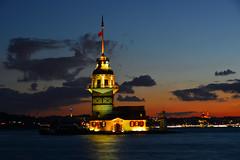 The Maiden's Tower- Istanbul/Turkey (Feridun F. Alkaya) Tags: maidenstower kızkulesi byzantine roman turkey istanbul ngc sunset
