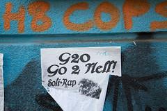 G20 - Hamburg Protest (Rasande Tyskar) Tags: g10 protest hamburg germany summit banner flyer poster sticker plakate plakat gipfel no g20
