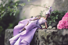 💜 Sterling Silver Rose Articulated 💜 (lichtspuren) Tags: sterlingsilverrosebarbie aa articulatedbody babyphatkara collector doll barbie lilac lavender hair updo goddessfacemold