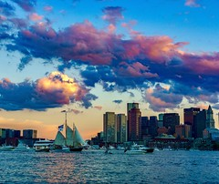 Boston Harbor Sunset ((Jessica)) Tags: boston sky sunset massachusetts newengland