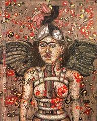 Frida Kahlo as Nike - Female nude Iconic painting broken column (heatherfreitas) Tags: buyart homedecor art artists gold mixedmedia greek greekpainting roman greece rome nike fridakahlo