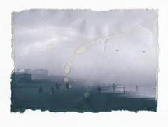 (mikehip) Tags: blackandwhite altprocess print obx northcarolina 35mm filmisnotdead doubleexposure summer beach kodak