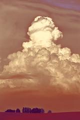 Soirée nuages V : une idée nucléaire et phalique... (stephane.desire) Tags: nuage soir rouge nucléaire phalique paysage cumulonimbus boislévêque campagne normandie 70300