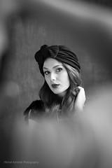 over shoulder (MichalKondrat) Tags: migawka portret vilmarouge lampa 100plenermigawki błysk modelka strobbing dmochowska kobieta monika migawki modelki błyskanie rzeźnia stararzeźnia studio 100 plener stara d300s