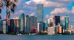 The City. (Aglez the city guy ☺) Tags: downtownmiami biscaynebay waterways walkingaround outdoors colors city cityscapes clouds urban urbanexploration architecture