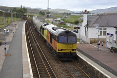 Dalwhinnie Tug (wwatfam) Tags: 60085 colas class 60 diesel electric locomotive freight cement trains railways railroad highland main line dalwhinnie station scotland britain