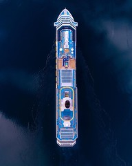 Rather Be (Jay Daley) Tags: boat cruiseship topdown aerial geiranger norway phantom4pro dji done